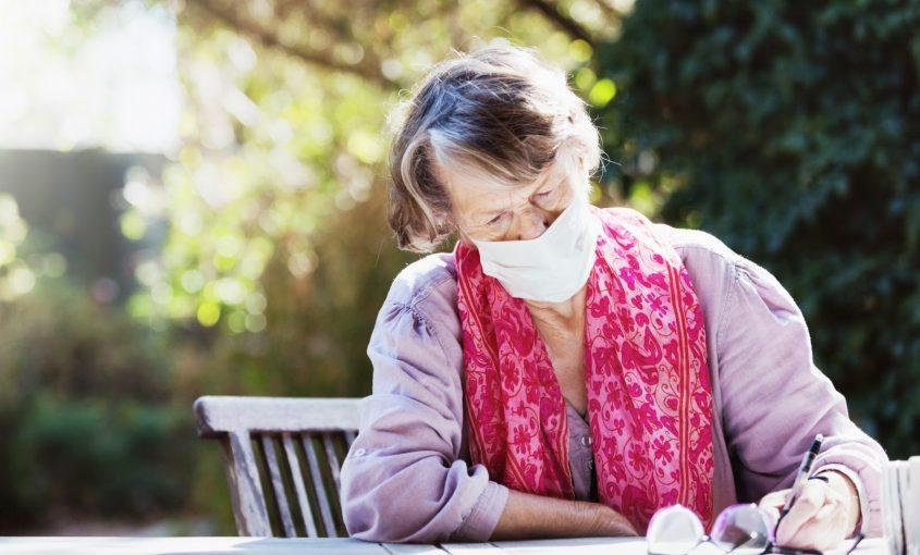 older woman reviewing estate plan