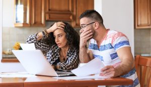 couple concerned over investments